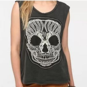 3/$30 The Classic Lace Skull Tank Top